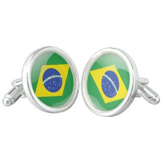 Gemelos Bandera brillante del Brasil