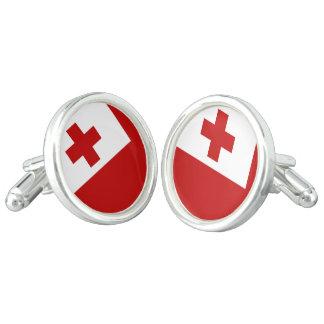 Gemelos Cruz Roja de la bandera de la isla de Tonga