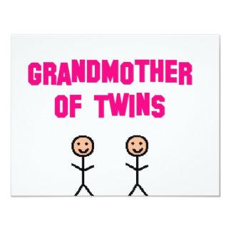gemelos de la abuela invitación personalizada