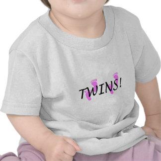 Gemelos de la niña camiseta
