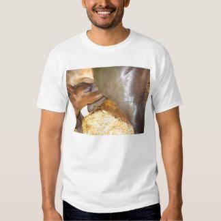 Gemelos del caballo en la barra de leche camiseta