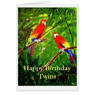 Gemelos del feliz cumpleaños tarjeta de felicitación