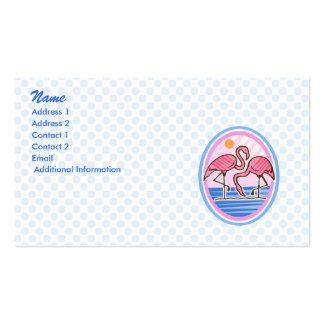 Gemelos del flamenco tarjetas de visita