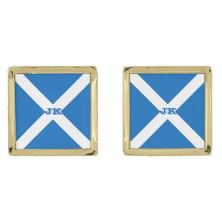 Gemelos Dorados Bandera de Escocia o de Saltire