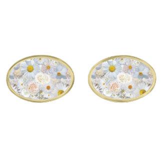 Gemelos Dorados Primavera nupcial del boda floral del ramo de las