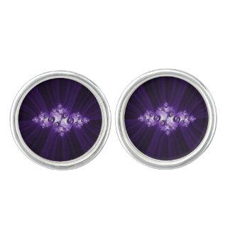 Gemelos Fractal blanco en fondo púrpura