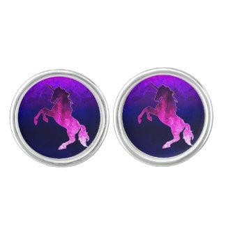 Gemelos Imagen brillante del unicornio hermoso rosado de
