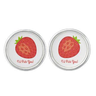 """Gemelos """"Le escogería!"""" Mancuernas redondas de la fresa"""