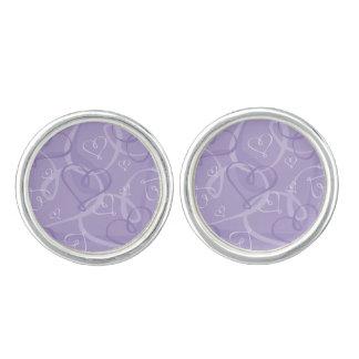 Gemelos Modelo del corazón púrpura