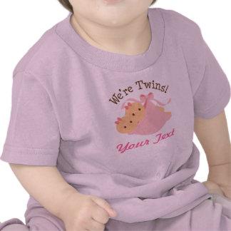 Gemelos personalizados del chica camiseta