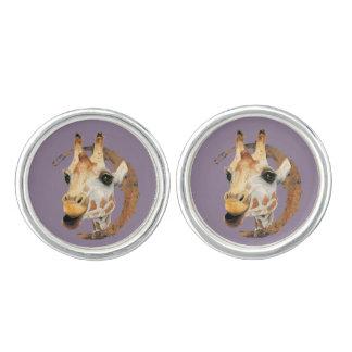 Gemelos Pintura de la jirafa con el falso marco del