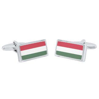Gemelos Plateados Bandera de las mancuernas de Hungría