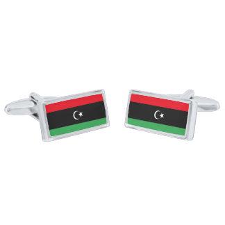 Gemelos Plateados Bandera de las mancuernas de Libia