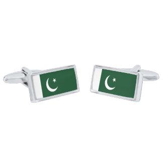 Gemelos Plateados Bandera de las mancuernas de Paquistán