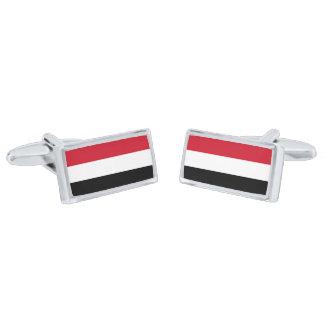 Gemelos Plateados Bandera de las mancuernas de Yemen