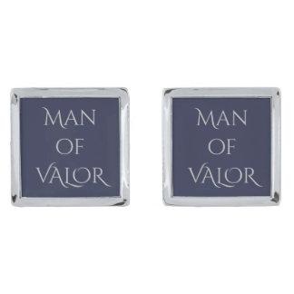 Gemelos Plateados Hombre de mancuernas del valor