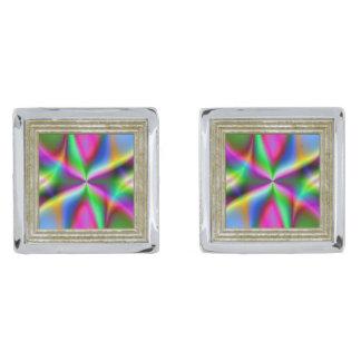 Gemelos Plateados Lustre metálico colorido del fractal