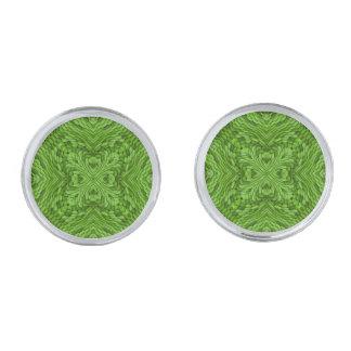 Gemelos Plateados Mancuernas coloridas verdes que van, 4 formas