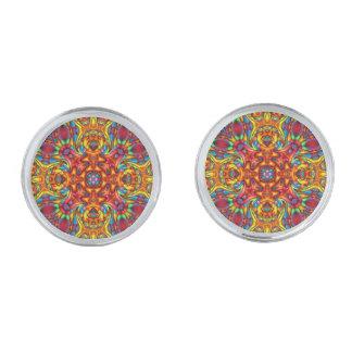 Gemelos Plateados Mancuernas extrañas del caleidoscopio de Tiki, 4