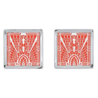 Gemelos Plateados Modelo arquitectónico de Deco, mandarina