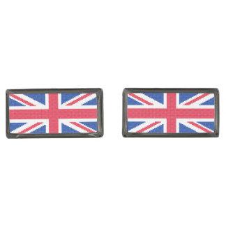Gemelos Plomizos Diseño original Union Jack del punto de cruz