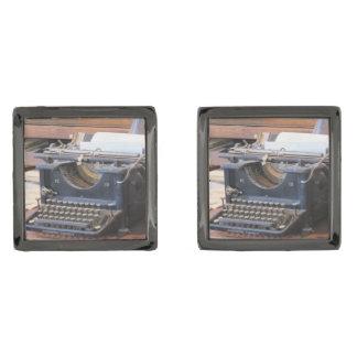 Gemelos Plomizos Máquina de escribir antigua