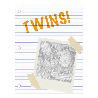 ¡gemelos! POLAROID Postal