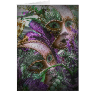 Gemelos púrpuras tarjeta de felicitación