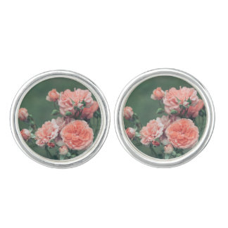 Gemelos Rosas rosados hermosos en un fondo verde natural
