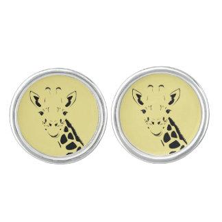 Gemelos Silueta de la cara de la jirafa