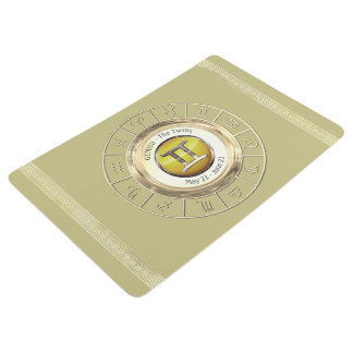 Géminis - la muestra del zodiaco de los gemelos alfombra