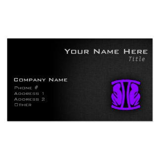 Géminis púrpuras violetas tarjeta de visita