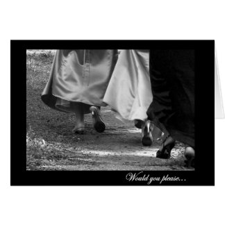 General Bridesmaid Request Card de los vestidos el Tarjeta De Felicitación