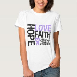 General Cancer Hope Love Faith Camisas