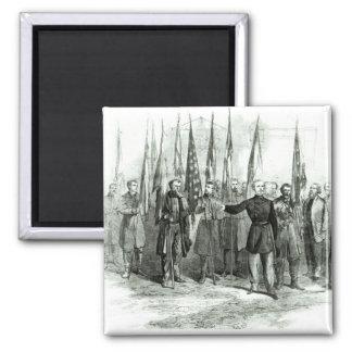 General Custer Imán Cuadrado