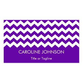 General de moda blanco púrpura del modelo de tarjetas de visita