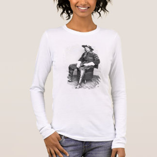 General George A. Custer (foto de b/w) Camiseta De Manga Larga