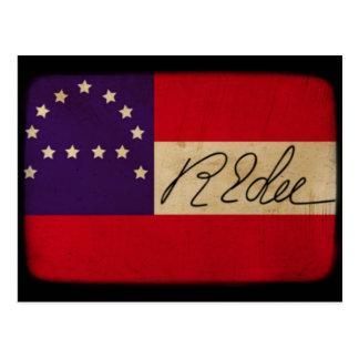 General Lee Headquarters Flag con la firma Postales