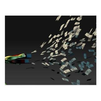 Genere la riqueza y la renta como concepto del postal