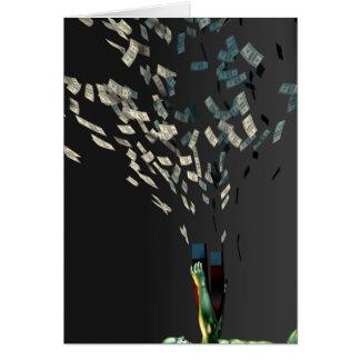 Genere la riqueza y la renta como concepto del tarjeta de felicitación