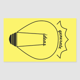 Genere las ideas pegatina rectangular
