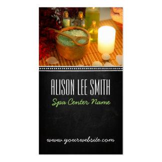 Generic health spa massage plantilla de tarjeta de negocio