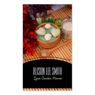 Generic health/spa/massage plantillas de tarjetas personales