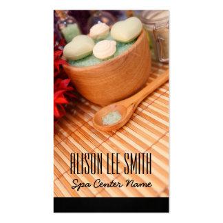 Generic health/spa/massage plantilla de tarjeta de visita
