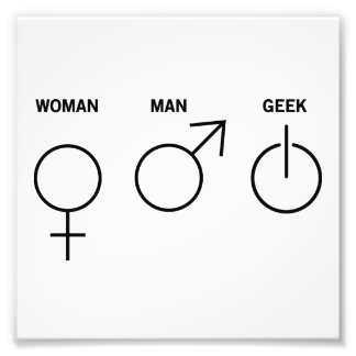 Género del friki foto