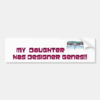 Genes del diseñador pegatina para coche