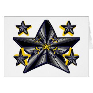 Génesis de la estrella (concepto artístico estupen tarjeta de felicitación