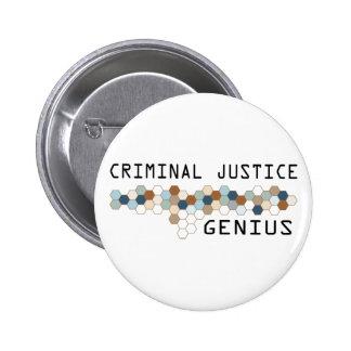 Genio de la justicia penal chapa redonda 5 cm