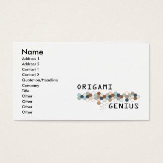 Genio de Origami Tarjeta De Visita