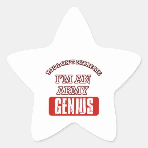 Genio del ejército calcomania forma de estrella